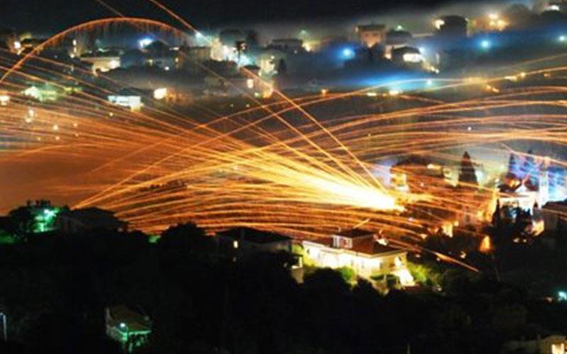 Зашеметяващо! Ракетната война във Вронтадо на остров Хиос