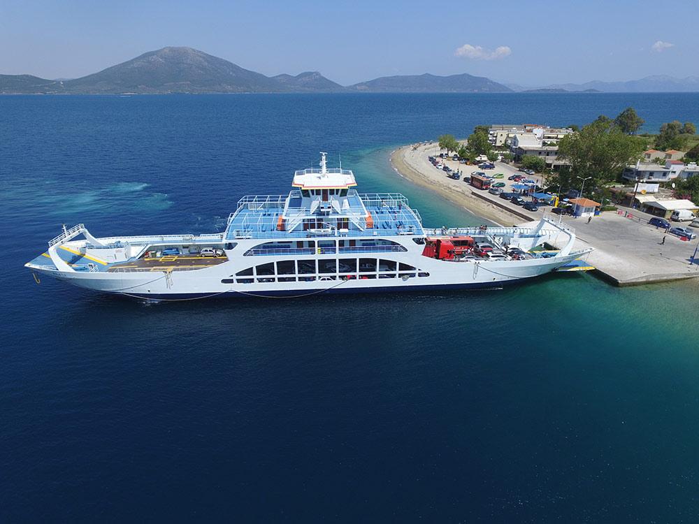 Нашите фериботи - Глифа до Агиокампос в Евия